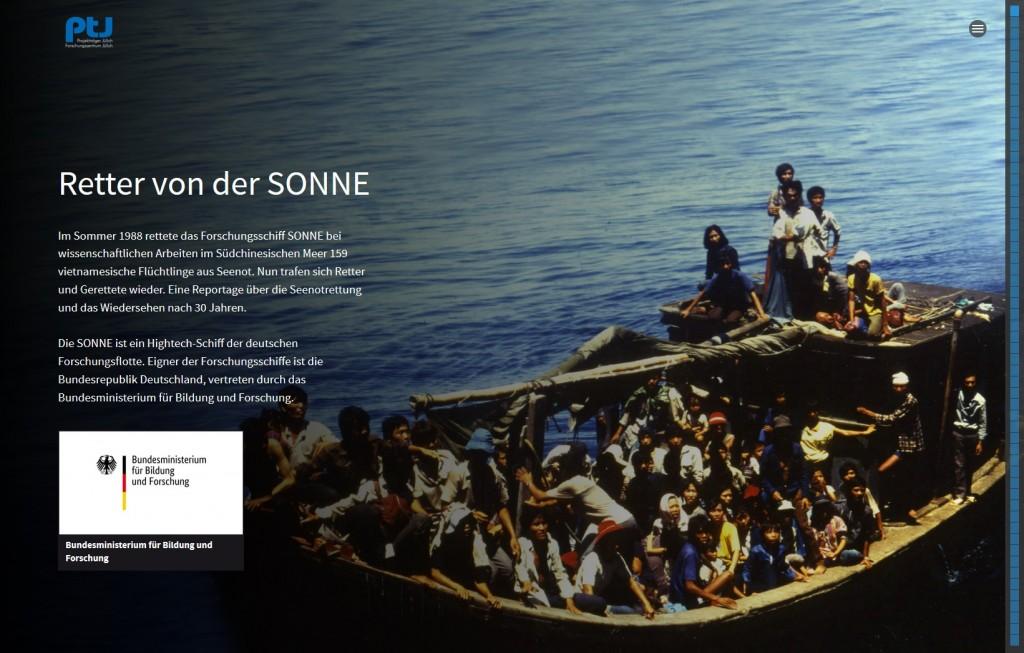 """Multimedia-Reportage """"Retter von der SONNE"""""""